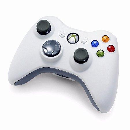 Controle Original Microsoft Branco - Xbox 360 Usado
