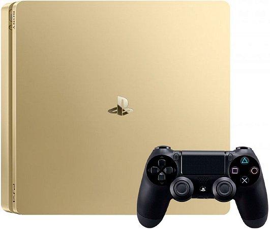 Sony Playstation 4 Slim 1tb Standard Gold Seminovo