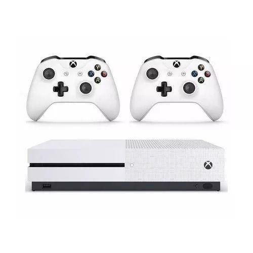 Microsoft Xbox One S 1tb Two-controller Bundle Branco Usado