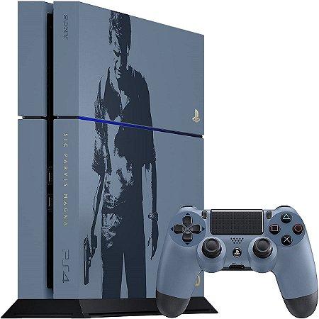 Sony Playstation 4 500GB Limited Edition Uncharted Seminovo