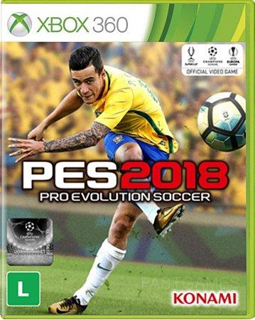 Jogo Pro Evolution Soccer 2018 - XBOX 360 Mídia Física Usado