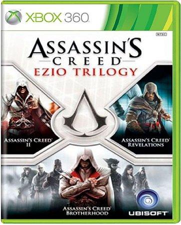 Jogo Assassin's Creed Ezio Trilogy - Xbox 360 Mídia Física Usado