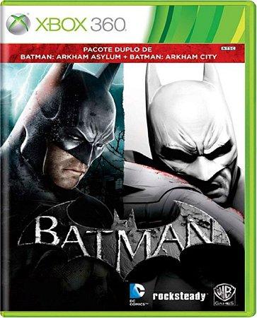 Batman Arkham Asylum + Batman Arkham City - Xbox 360 Usado