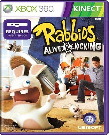 Jogo Rabbids Alive E Kicking -  Xbox 360 Mídia Física Usado