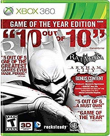 Jogo Batman Arkham City GOTY - Xbox 360 Mídia Física Usado