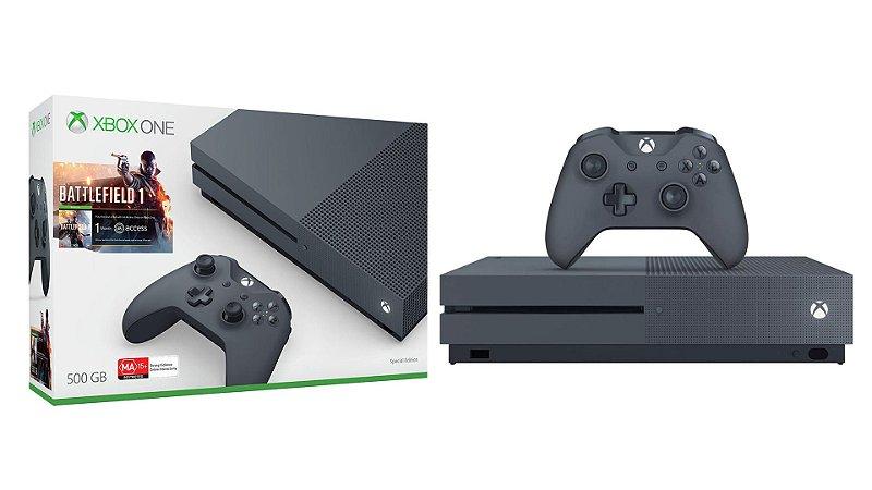 Xbox One S 500GB Edição Especial Battlefield 1 Usado