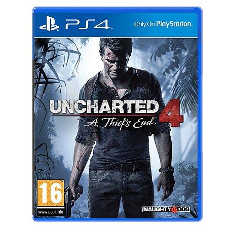 Jogo Uncharted 4 A Thief End - Ps4 Mídia Física Usado