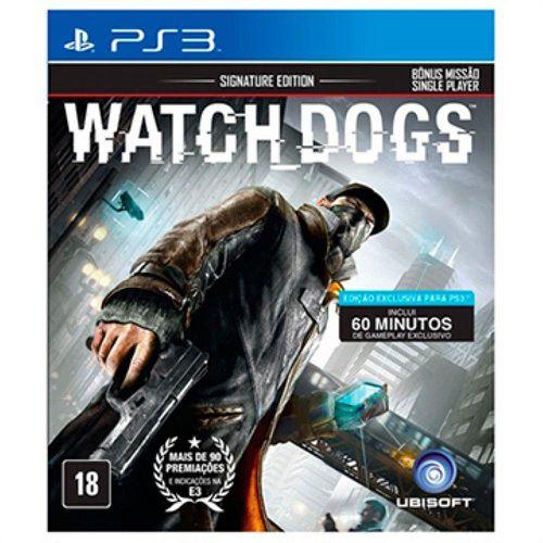 Jogo Watch Dogs Signature Edition - Ps3 Mídia Física Usado