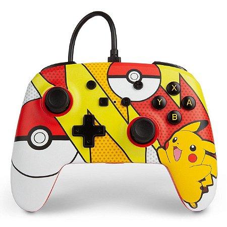 Controle PowerA Aprimorado Com Fio Nintendo Switch Pokemon