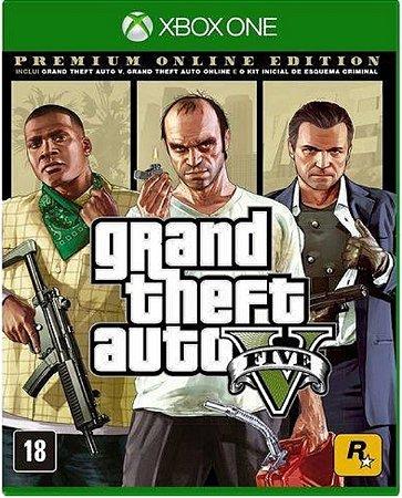 Jogo GTA V Premium Edition - Xbox One Mídia Física Usado