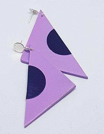 Brinco Triangular Lilac
