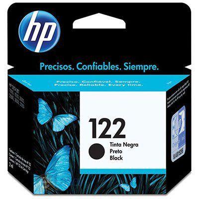 Cartucho HP 122 preto Original (CH561HB) Para HP DeskJet 1000, 2050, 3050, 2000