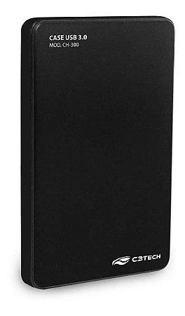 Case C3 Tech P/ Hd 2.5´ Usb 3.0, Preto - Ch-300bk
