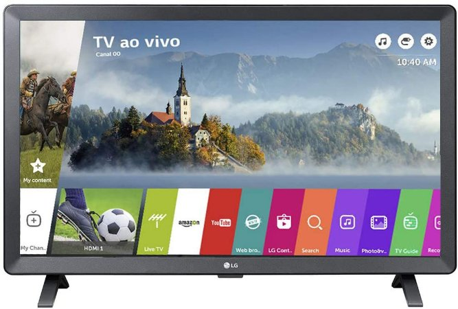"""Smart TV Monitor 24"""" LED LG 24TL520S Wi-Fi WebOS 3.5 DTV Time Machine Ready,"""