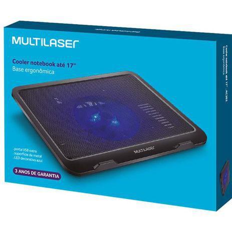 Base Ergonômica Com Cooler Para Notebook Multilaser Ac263