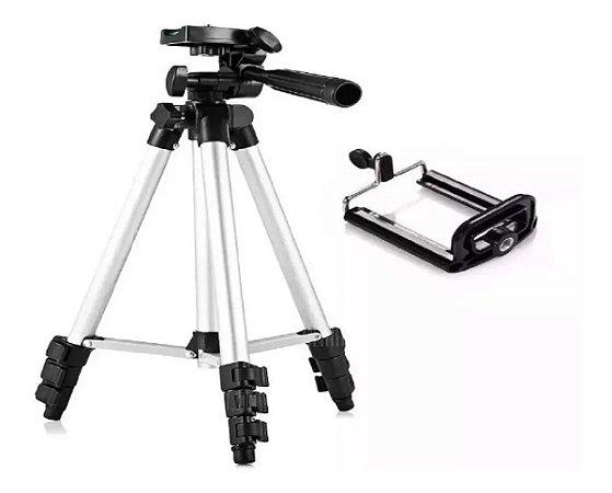 Tripé Câmera Universal Celular 1,20 Mt + Suporte Inova