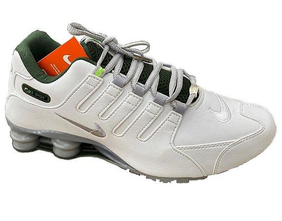 Nike Shox NZ 4 Molas Branco e verde