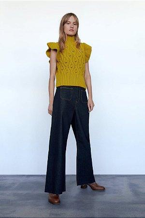 Blusa tricot renda