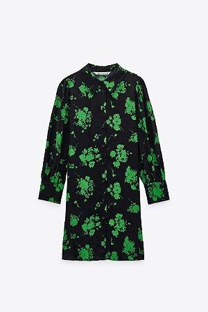 Vestido Chemise Curto Floral