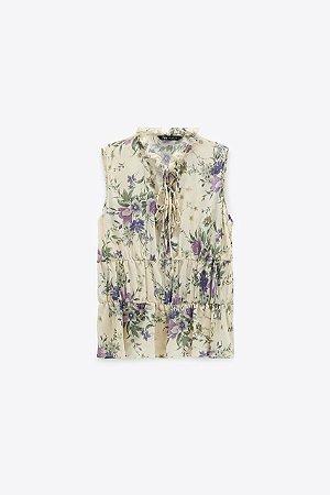 Blusa Floral Amarracao