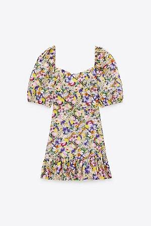 Vestido Curto Floral