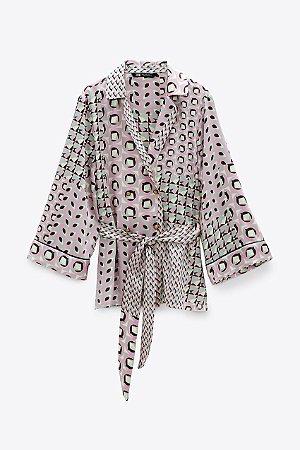 Camisa Kimono Estampado