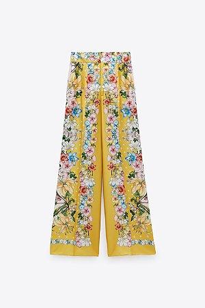 Calca Pantalona Floral