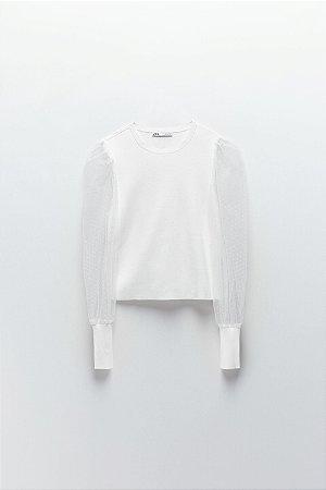 Blusa de Tricot Plumetti
