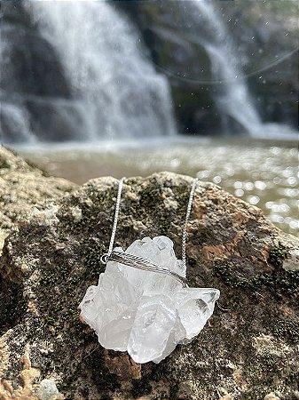 Colar Drusa de Cristal