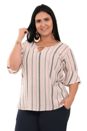 Blusa Feminina Vazada Plus Size