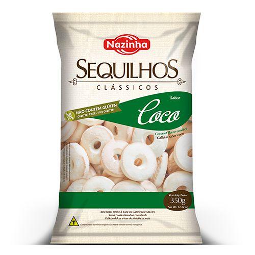 Sequilhos Clássico sabor Coco 350g