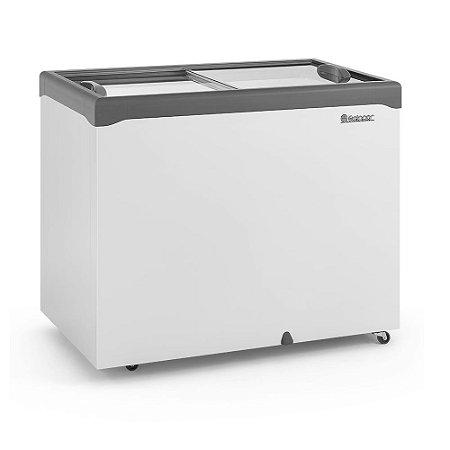 Conservador / Refrigerador Horizontal Vidro Reto Deslizante 307L GELOPAR GHDE-310