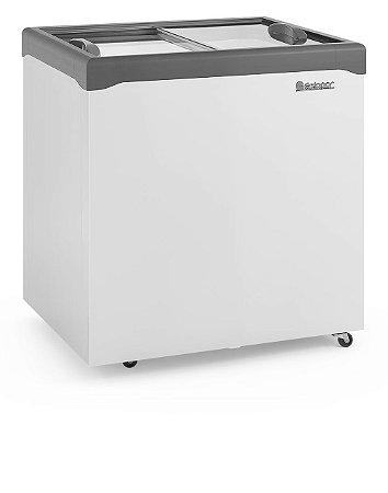 Conservador / Refrigerador Horizontal Vidro Reto Deslizante 220L GELOPAR GHDE-220