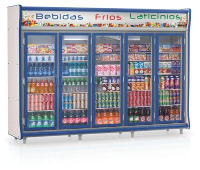 Refrigerador Vertical Auto Serviço Bebidas, Frios e Laticínios 5 Portas GELOPAR GEVP-5P