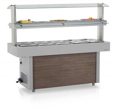 Mesa Térmica / Refrigerada Linha Buffet Self-Service 15 cubas GELOPAR GMTR-190