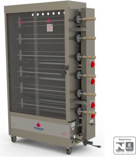 Forno assador rotativo para 30 frangos PROGÁS PR-634