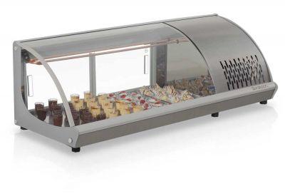 Vitrine Refrigerada de Bancada para Sushi 1,20m GELOPAR GVRB-120TI
