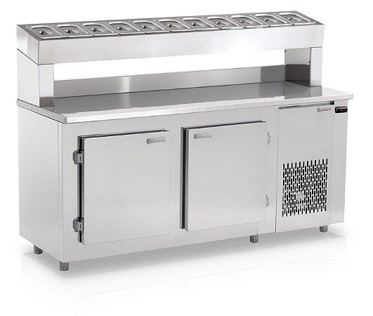 Balcão Refrigerado Condimentaria 1,90m GELOPAR GBPZ-190