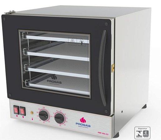 Forno Turbo Elétrico Fast Oven Multiuso PROGÁS PRP-004  Preto