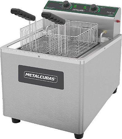 Fritadeira Elétrica Zona Fria de Óleo 15 Litros  METALCUBAS FOE-15 8000 W