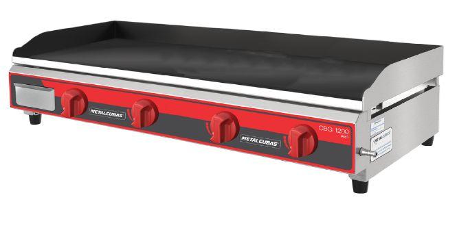 Chapa Bifeteira Profissional a gás 1,20cm METALCUBAS CBG-1200 PRO