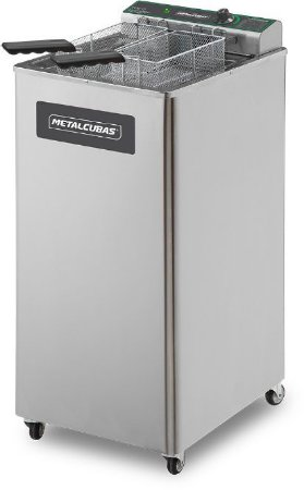 Fritadeira Elétrica Zona Fria de Óleo 15 Litros 8000w METALCUBAS FOE-15
