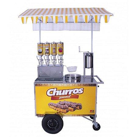 Carrinho de Churros Gourmet Inox DC R076