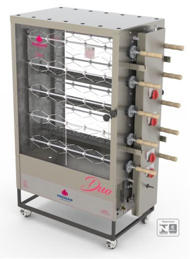 Forno assador rotativo para 50 frangos PROGÁS PR-6100 TR DUO