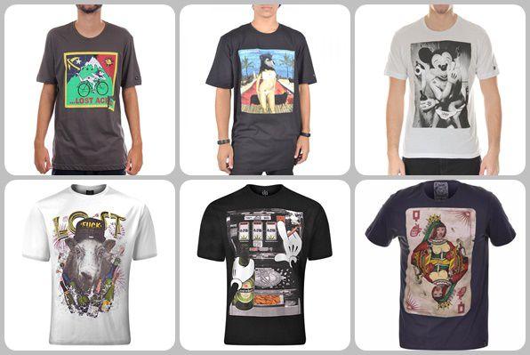 Camisetas Lost no Atacado - Kits de 03 a 50 peças - Roupas de Marca ... f3dad909473
