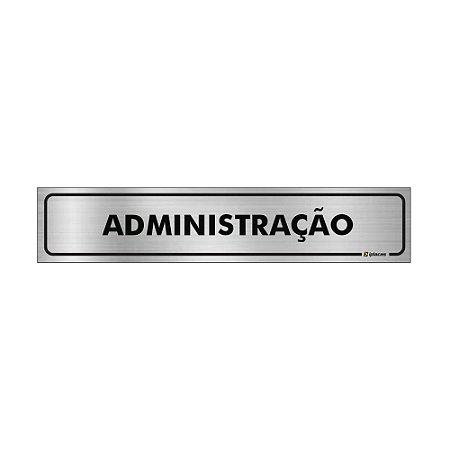 Placa Identificação - Administração - Aluminio