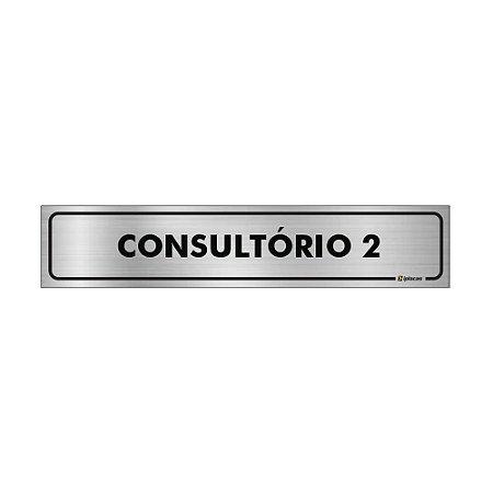 Placa Identificação - Consultorio 2 - Aluminio