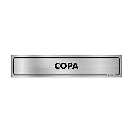 Placa Identificação - Copa - Aluminio