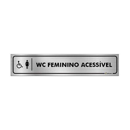 Placa Identificação - WC Acessível Feminino - Aluminio