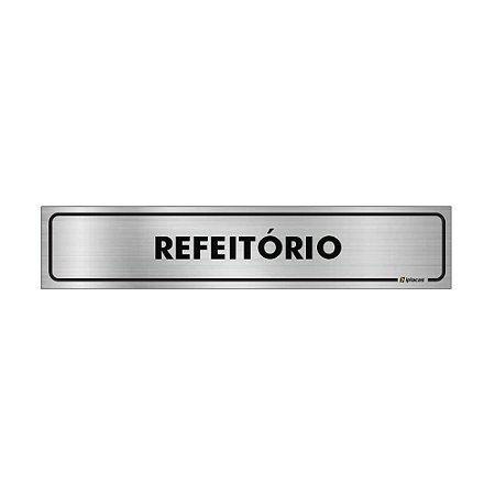 Placa Identificação - Refeitorio - Aluminio